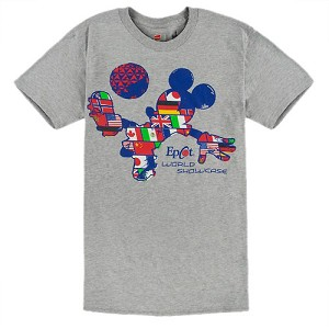 Disney Adult Shirt Epcot Mickey Flags Soccer Tee