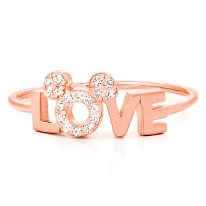 Disney Ring - Love Mickey Icon - Rose Gold