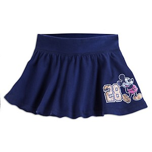 Disney Child Skirt - 28 Mickey Mouse Skort for Girls - Navy