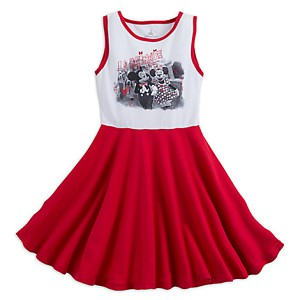 Disney Child Dress - Mickey and Minnie - Red and White