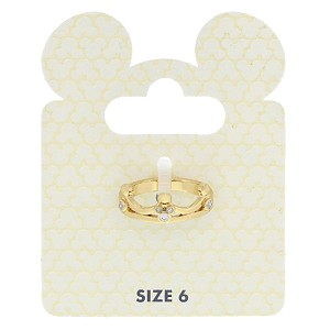 Disney Ring - Crystal Mickey Icon Crown - Gold