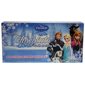 Disney Parks Candy - Disney Frozen - Milk Chocolate Mint Truffles
