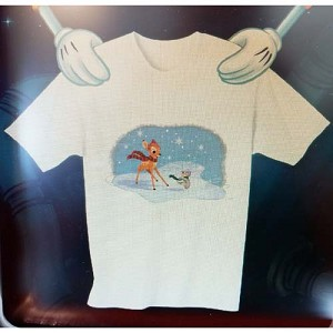 Disney Child Shirt - Christmas Bambi and Thumper Winter Holiday Tee