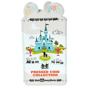 Disney Pressed Penny Book - Retro Theme Park Icons