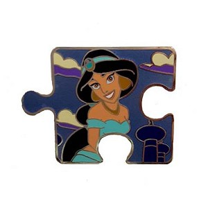 Disney Character Connection Pin - Aladdin Puzzle - Jasmine