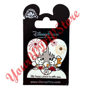 Disney Mickey and Minnie Pin - My Happy Place is with You
