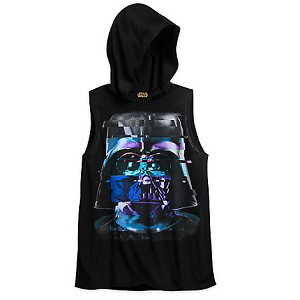 Disney Hooded Shirt - Star Wars - Darth Vader Hooded TANK Top