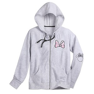 Disney ADULT Hoodie - Minnie Mouse Zip Hoodie for Women