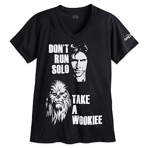 Disney WOMEN'S Shirt - Han Solo & Chewbacca  runDisney Performance Tee