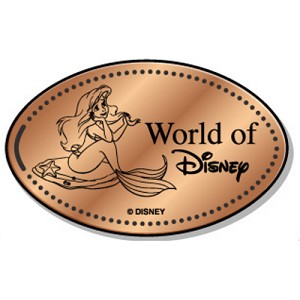 Disney Pressed Penny - World of Disney - Ariel the Little Mermaid