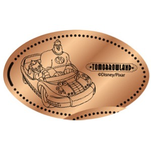 Disney Pressed Penny - Tomorrowland - Mr Incredible Speedway
