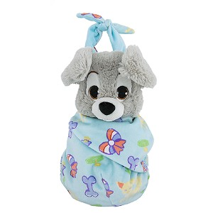 Disney Plush - Baby Scamp in a Blanket Pouch