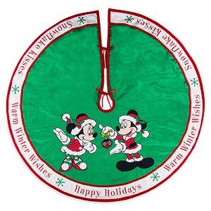 disney christmas tree skirt santa mickey and minnie mouse happy holidays tree skirt - Disney Christmas Tree Skirt