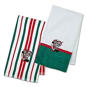 Disney Kitchen Towel - Santa Mickey and Minnie Mouse
