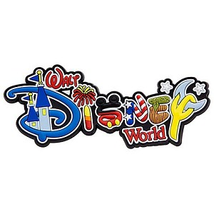 Disney Magnet - Walt Disney World Icons Logo