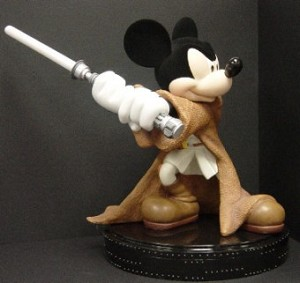 Disney Big Figure Statue - Mickey Mouse - Jedi Knight