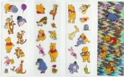 Disney Stickers 4 Strips - Pooh & Friends