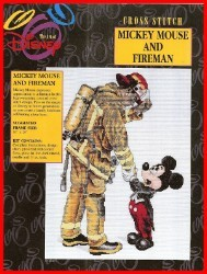 Disney Cross Stitch Kit - Mickey and the Fireman Fire Fighter