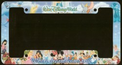 Your Wdw Store Disney License Plate Frame Where Dreams
