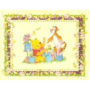 Disney Throw Blanket - Pooh's Honey Garden