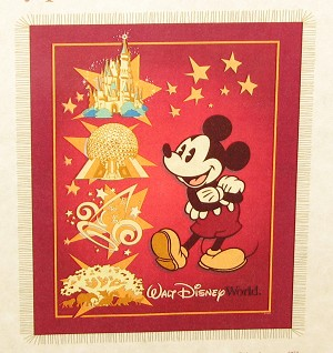 Disney Throw Blanket - Four Parks Mickey Mouse