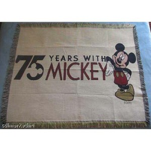 Disney Throw Blanket - 75 Years with Mickey