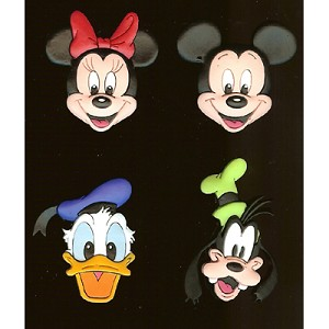 Disney Magnet - 4 pack Mickey Minnie Mouse Goofy Donald Duck