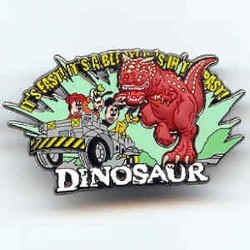 Disney Dinosaur Pin - Mickey, Minnie, Goofy and Carnotaurus