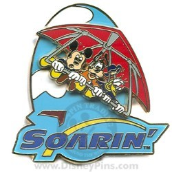 Disney Soarin' Pin - Mickey, Donald and Goofy - Logo