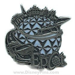 Disney Epcot Pin - Icons