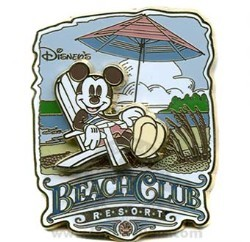 Disney Resort Pin - Beach Club - Mickey Mouse
