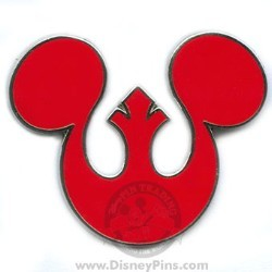 Disney Star Wars Pin - Rebel Alliance Seal Mickey Icon