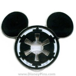 Disney Star Wars Pin - Imperial Seal Mickey Icon