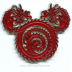 Disney Mickey Icon Pin - Dragon