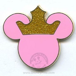 Disney Mickey Icon Pin - Pink with Crown