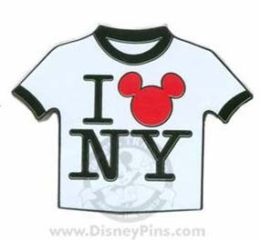 Disney New York Pin - T-Shirt - ''I Love NY''