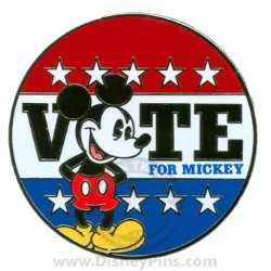 Disney Mickey Pin - Vote for Mickey