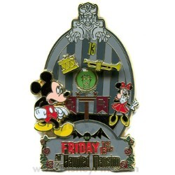 Disney Friday the 13th Pin - The Haunted Mansion - Mickey and Minnie