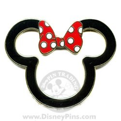 Disney Minnie Pin - Outline
