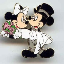 Disney Mickey & Minnie Pin - Bride and Groom