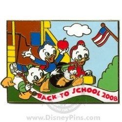 Disney Back to School Pin - 2008 - Huey, Dewey and Louie