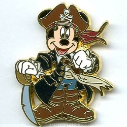 Disney Pirates Pin - Disney Characters - Pirate Captain Mickey