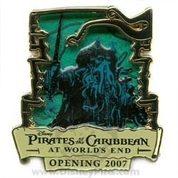 Disney Pirates of the Caribbean Pin - Countdown #4 - Davy Jones