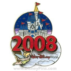 Disney Tinker Bell Pin - 2008 Cinderella Castle