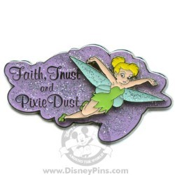 Disney Tinker Bell Pin - Faith, Trust and Pixie Dust