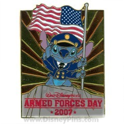 Disney Armed Forces Day Pin - Stitch
