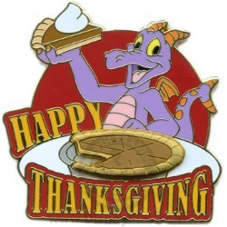 Disney Happy Thanksgiving Pin - 2008 Figment Journey Imagination Epcot