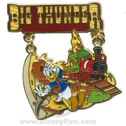 Disney Featured Attraction Collection Pin - Thunder Mountain Railroad