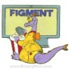 Disney Gold Card Pin - Figment - Imagination Big Screen TV Movie Pin