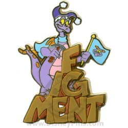 Disney Gold Card Pin - Figment - Imagination Mountain Climber Pin